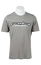 Cowboy Hardware Ash Grey with Skull Logo Short Sleeve Tee