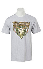 Cowboy Hardware Heather Grey Hunters Hardware Skull Print Short Sleeve Tee