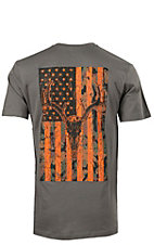 Cowboy Hardware Charcoal Hunter's Hardware Flag & Skull Short Sleeve Tee