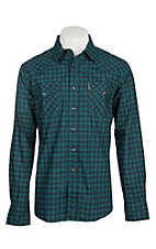 Cinch Men's Green & Black Geo Print Modern Fit L/S Western Snap Shirt