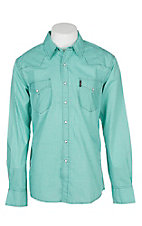 Cinch Men's Green Modern Fit Geo Print Long Sleeve Western Snap Shirt
