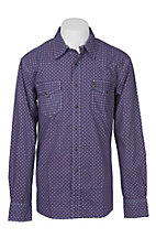Cinch Men's Modern Fit Purple Geo Print Long Sleeve Western Snap Shirt