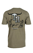 Cowboy Hardware Men's Sage Team Roper Logo Short Sleeve T-Shirt
