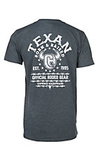 Cowboy Hardware Men's Charcoal Texas Born & Raised S/S T-Shirt