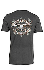 Cowboy Hardware Men's Charcoal Built Cowboy Tough Short Sleeve T-Shirt