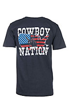 Cowboy Hardware Men's Navy Cowboy Nation Short Sleeve T-Shirt