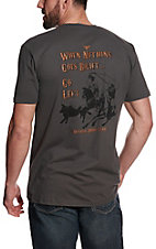 Cowboy Hardware Men Sand with When Nothing Goes Right Go Left Screen Print Short Sleeve T-Shirt