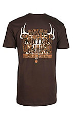 Cowboy Hardware Men's Chocolate with Antler Screen Print Short Sleeve T-Shirt