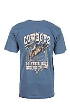 Cowboy Hardware Men's Indigo with Cross Logo Short Sleeve T-Shirt