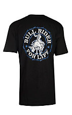 Cowboy Hardware Men's Black Bull Rider For Life T-Shirt