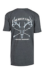 Cowboy Hardware Men's Grey One Buck At A Time Screen Printed T-Shirt
