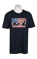 Cowboy Hardware Men's Navy Roper American Flag T-Shirt