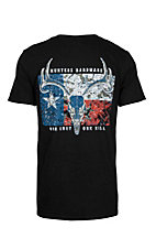 Hunters Hardware Men's Black Flag One Shot S/S T-Shirt