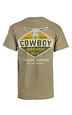 Cowboy Hardware Brand Men's Logo Screen Print Prairie Dust Short Sleeve T-Shirt