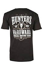 Hunters Hardware Men's Dark Grey Official Hunting Gear Short Sleeve T-Shirt