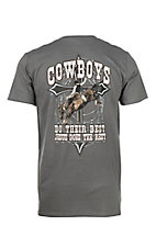 Cowboy Hardware Men's Cowboy Strength Short Sleeve Grey T-Shirt