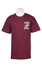 Cowboy Hardware Men's Maroon Cowboy Tough S/S T-Shirt