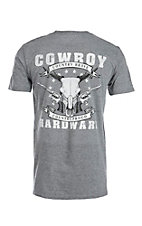 Cowboy Hardware Men's Grey Country Brave Short Sleeve T-Shirt