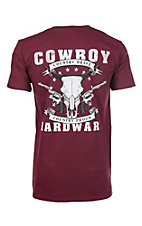 Cowboy Hardware Men's Maroon Brave Soft S/S T-Shirt