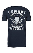 Cowboy Hardware Men's Navy Country Brave S/S T-Shirt