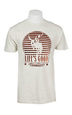 Cowboy Hardware Men's Oatmeal Life Is Good Graphic S/S T-Shirt