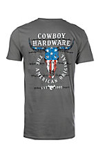 Cowboy Hardware Men's Charcoal American Original S/S T-Shirt