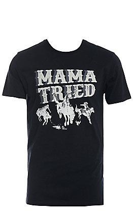Cowboy Hardware Men's Black Mama Tried Short Sleeve T-Shirt