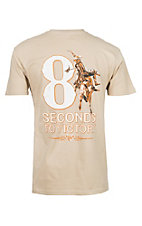 Men's 8 Seconds to Victory Short Sleeve Sand T-Shirt