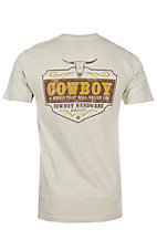 Men's Cowboy Breed Short Sleeve Oatmeal T-Shirt