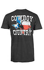 Cowboy Hardware Men's Charcoal Grey Cowboy Country S/S T-Shirt