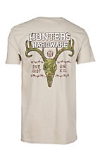 Hunter's Hardware Men's Sand One Shot Camo Deer Skull S/S T-Shirt