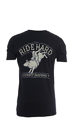 Cowboy Hardware Men's Black Ride Hard Short Sleeve T-Shirt