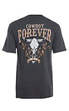 Cowboy Hardware Men's Charcoal Cowboy Forever Short Sleeve T-Shirt