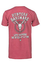 Hunting Hardware Life Happens Heather Coral Short Sleeve T-Shirt