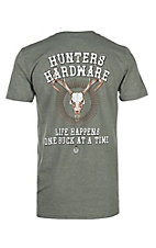 Hunting Hardware Life Happens Military Green Short Sleeve T-Shirt