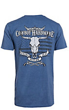 Cowboy Hardware Men's Heather Indigo Outlaw Short Sleeve T-Shirt