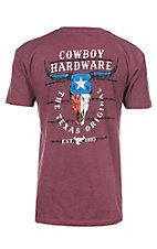 Cowboy Hardware Men's Cardinal Texas Original Short Sleeve T-Shirt