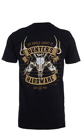 Hunters Hardware Men's Black No Bones About It Short Sleeve T-Shirt