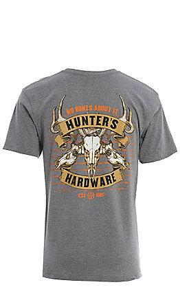 Cowboy Hardware Men's No Bones About It Short Sleeve Grey T-Shirt