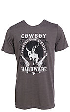 Cowboy Hardware Men's Heather Charcoal Short Sleeve T-Shirt