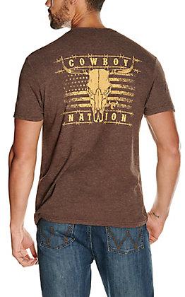 Cowboy Hardware Men's Heather Brown Cowboy Nation Short Sleeve T-Shirt