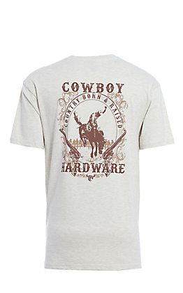 Cowboy Hardware Oatmeal Country Born & Raised Short Sleeve T-Shirt