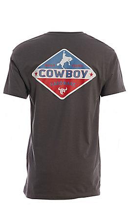Cowboy Hardware Men's Grey Screen Print Short Sleeve T-Shirt