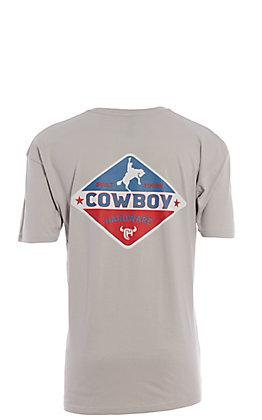 Cowboy Hardware Men's Silver Built Tough Short Sleeve T-Shirt