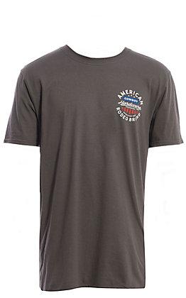 Cowboy Hardware Men's Grey American Rodeo Brand Graphic Short Sleeve T-Shirt