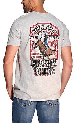 Cowboy Hardware Men's Grey Cowboy Tough Short Sleeve T-Shirt