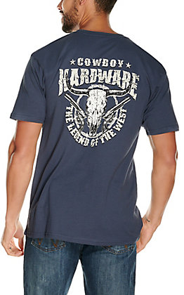 Cowboy Hardware Men's Harbor Blue Legend of the West Short Sleeve T-Shirt