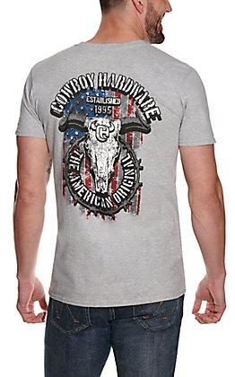 Cowboy Hardware Men's Heather Grey American Original Graphic Short Sleeve T-Shirt