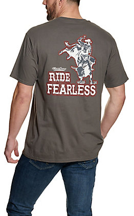 "Cowboy Hardware Charcoal ""Ride Fearless"" Short Sleeve T-Shirt"