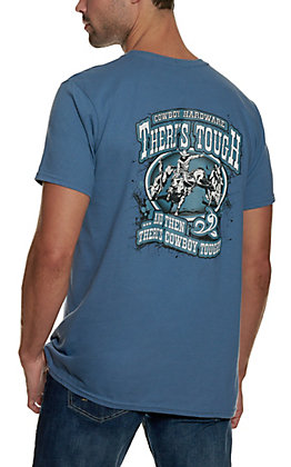 Cowboy Hardware Men's Indigo Cowboy Tough Graphic Short Sleeve T-Shirt
